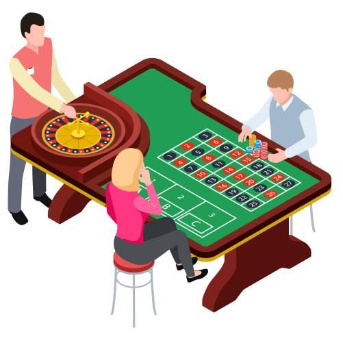 紅黑數字結合輪盤遊戲